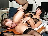 German secretary gets her ass fucked hard