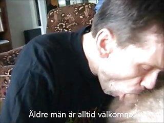 Swedish svensk sucking svensk gubbe facial...