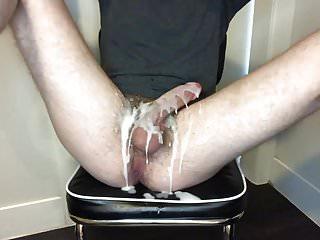 Cum lube rough masturbation...