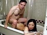 Bathtub fun with a horny Asian
