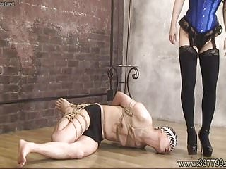 Masochist man go is captive of bondage Mistress Land
