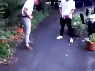 English Lads pissing together