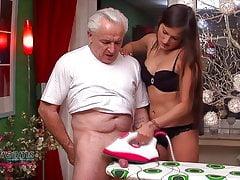 Holly's Jism On Ironing Board Handjob