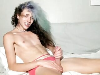 Beautiful Tgirl is Excited and cums on cam