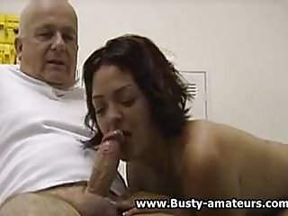 Busty amateur drew sucking cock...