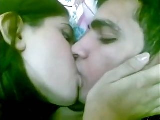 Desi crazy gorgeous teen scortching hot kissing in hard with bf