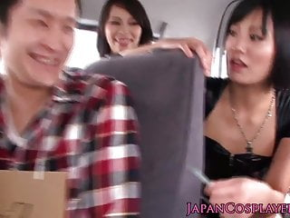 Cosplay catsuit japaneses reverse gang bang...