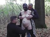 Slut wife in forest gangbaned in forest