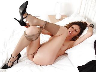 Hot mature legs wide...