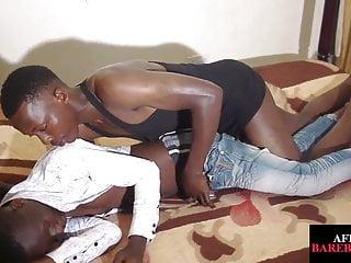 African jock barebacking amateur ass in duo
