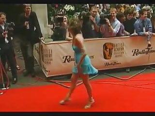 Carol Vorderman in That Blue Costume