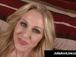 Potty Mouth Milf Julia Ann Stuffs Her Mouth With A Hard Cock