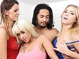 Hot orgy with three women