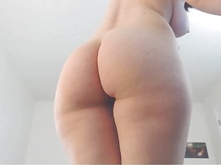 Perfect body shaved pussy jiggly booty...