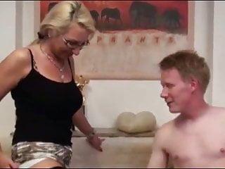 Redhead College Boy With Big Cock Cums Inside MILF Ass