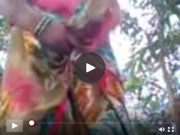 भोजपुरी चाची उल्लू और मुंडा बिल्ली आउटडोर दिखा