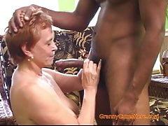 Interracial Gangbang with a Horny Granny