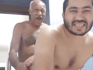 Hairy Oldman with big black cock