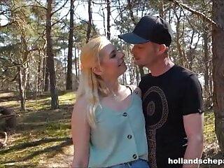 Geile seks in het bos