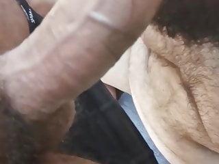 Bear suck big cock in public cruising