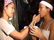 Saori & Saya Thai teens lick ice-cream titty thaigirltia.com