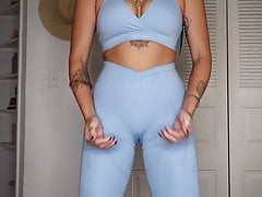 A STAR IS BORN, cameltoe try on, gym leggings review