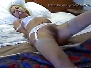 Blonde milf tied and fucked by stalker