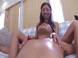 Nipple play by Jap girl