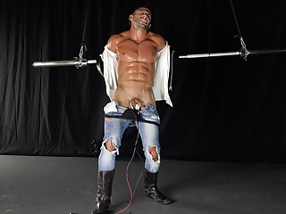 Straight young muscle stud takes hardcore bdsm punishment...