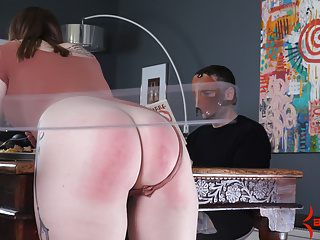 Hot big butt girl gets beaten by spanking...