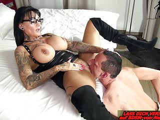 German tremendous jugs domina REAL FEMALE ORGASM from BDSM slave
