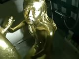 Gold painted Japanese sex