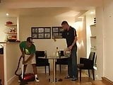 playing with the cleaner