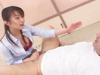 Jaanese student with strap on...