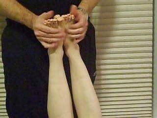 Feet fondling