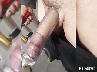 Pumping my docking with vibrator...