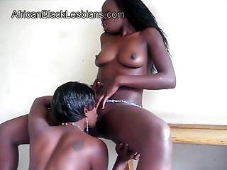 Tongues horny black gf...
