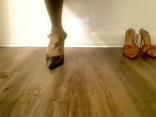 My feet in pointy heels