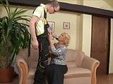 Mature woman fucks the plumber