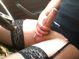 Crossdressed Wank In Car In Public