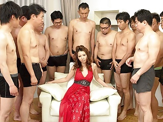 Kazami Japanese uncensored Nagisa gangbanged  milf  got