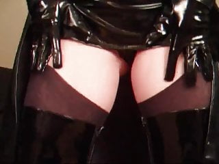 masturbating in nylons and kinky boots part1
