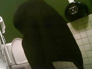 Green hidden toilet, spy cam: emo slut watched