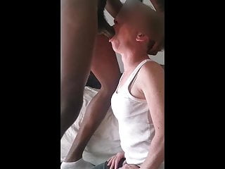 Submissive French whore deepthroats and gags on my cock