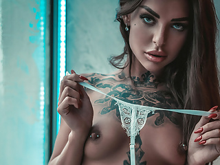 SANKTOR 063 - TATTOOED TEEN WITH NATURAL TITS IS TEASING
