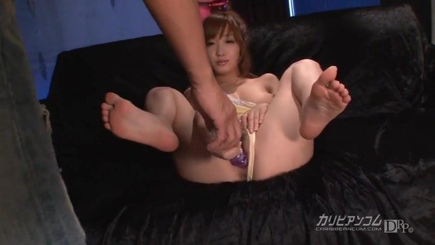 Asian girl Bukkake cum facials and sex toy