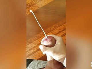 CUMSHOT YOUNG BALD COCK SLOWMO