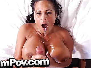 MomPov curvy thick MILF with huge tits and ass fucking POV