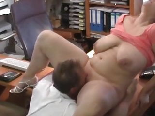 Delightful Amateur BBW MILF Pleasing her New Manager