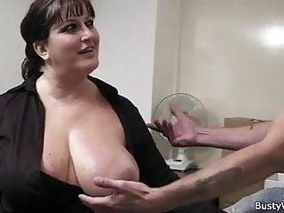 Busty lady...